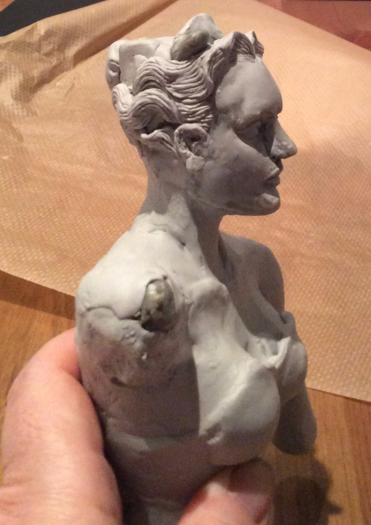 Original bust of DIana WIP Suzanne Forbes 2015